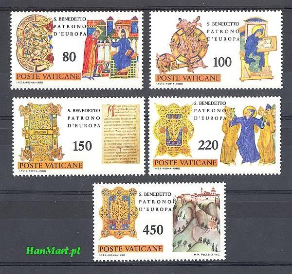 Watykan 1980 Mi 759-763 Czyste **