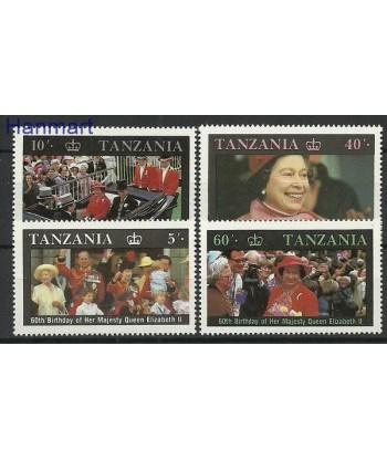 Tanzania 1987 Mi 391-394 Czyste **