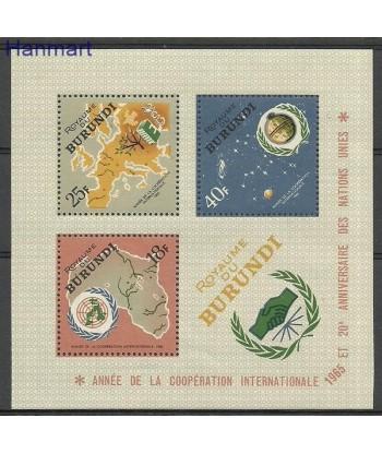 Burundi 1965 Mi bl 9 Czyste **