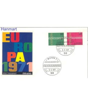 Niemcy 1971 Mi  FDC
