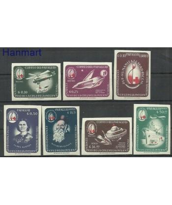Paragwaj 1964 Mi 1288-1294 Czyste **