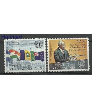 Saint Vincent i Grenadyny 1981 Mi 617-618 Czyste **