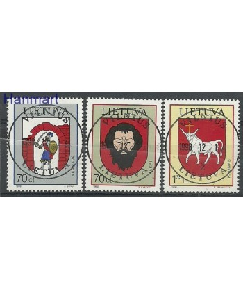Litwa 1998 Mi 673-675 Stemplowane