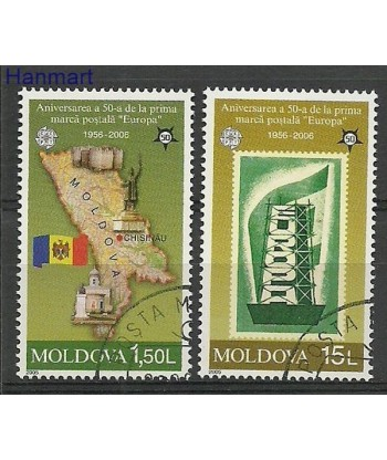 Mołdawia 2005 Mi 517-518 Stemplowane