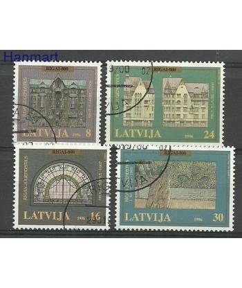 Łotwa 1996 Mi 440-443 Stemplowane