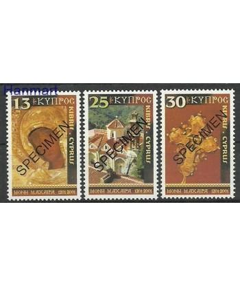 Cypr Grecki 2001 Mi 982-984 Czyste **