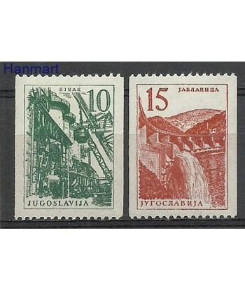 Jugosławia 1958 Mi 839-840 Z podlepka *
