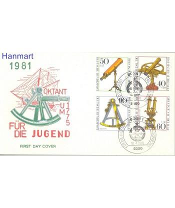 Niemcy 1981 Mi 1090-1093 FDC