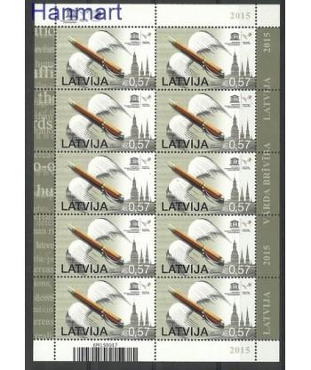 Łotwa 2015 Mi ark 945 Czyste **