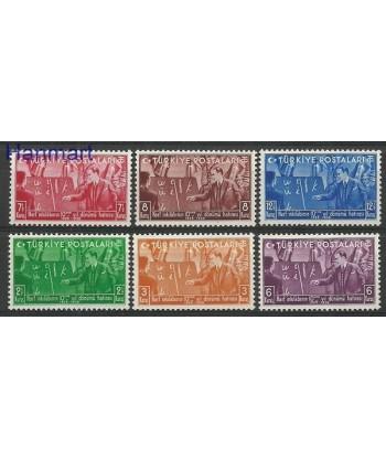 Turcja 1938 Mi 1035-1040 Czyste **