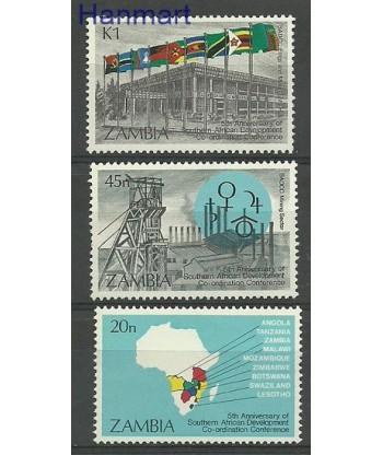 Zambia 1985 Mi 334-336 Czyste **