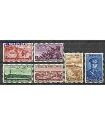 Turcja 1938 Mi 1029-1034 Z podlepka *