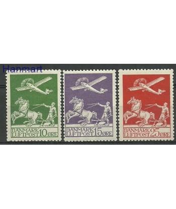 Dania 1925 Mi 143-145 Z podlepka *