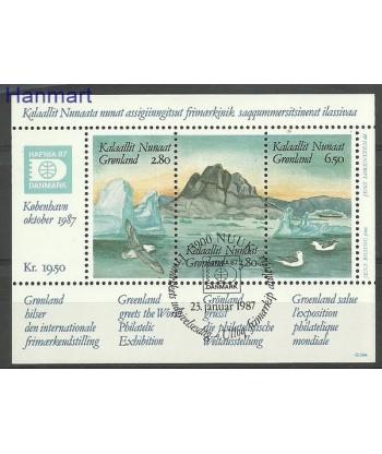 Grenlandia 1987 Mi bl 1 Stemplowane