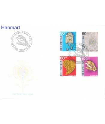 Szwajcaria 1994 Mi 1527-1530 FDC