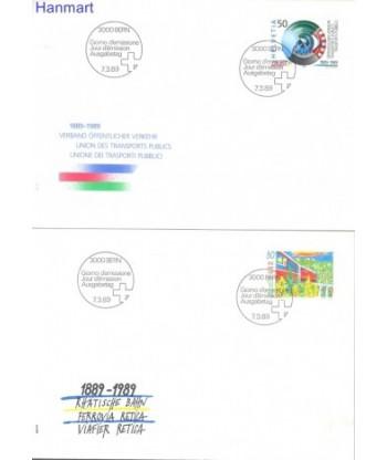 Szwajcaria 1989 Mi 1387-1388 FDC