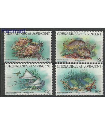 Grenadines of St Vincent 1984 Mi 300-303 Czyste **