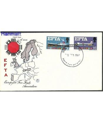 Wielka Brytania 1967 Mi  FDC