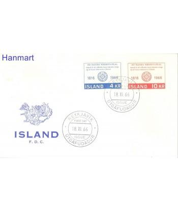 Islandia 1966 Mi  FDC