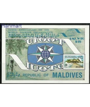 Malediwy 1985 Mi bl 110 Czyste **