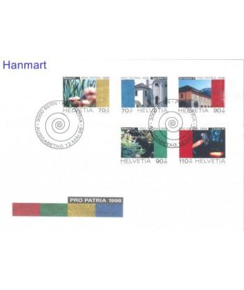 Szwajcaria 1998 Mi 1649-1653 FDC