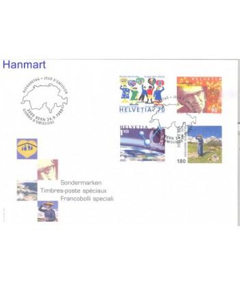 Szwajcaria 1999 Mi 1695-1698 FDC