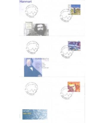 Szwajcaria 1999 Mi 1696-1698 FDC