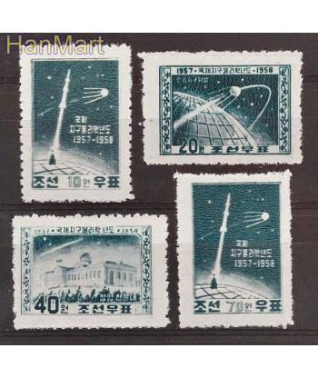 Korea Północna 1958 Mi 141-144 Z podlepka *