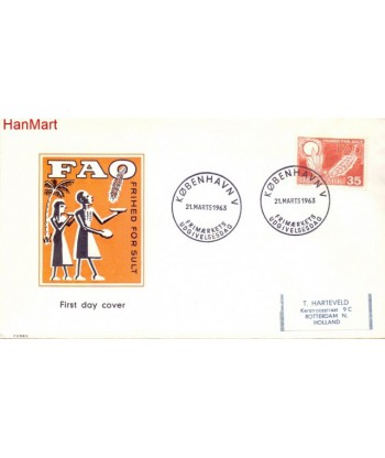 Dania 1963 Mi  FDC