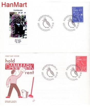 Dania 1991 Mi 1010-1011 FDC
