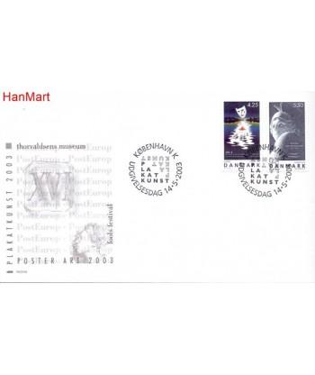 Dania 2003 Mi 1341-1342 FDC