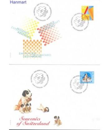 Szwajcaria 2001 Mi 1760-1761 FDC
