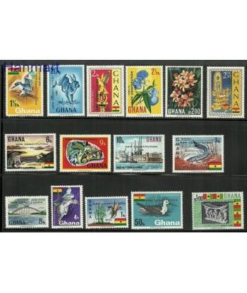 Ghana 1969 Mi 367-381 Czyste **