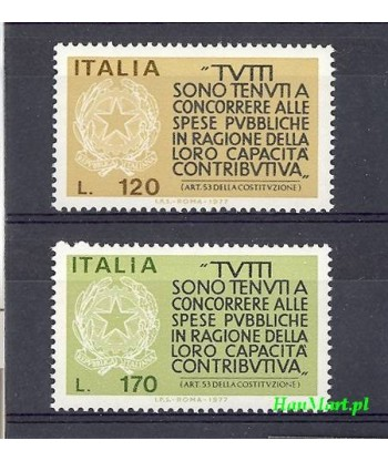 Włochy 1977 Mi 1565-1566 Czyste **