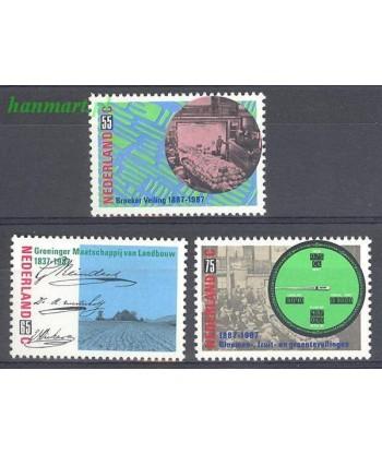 Holandia 1987 Mi 1320-1322 Czyste **