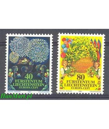 Liechtenstein 1981 Mi 764-765 Czyste **