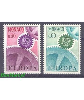 Monako 1967 Mi 870-871 Czyste **
