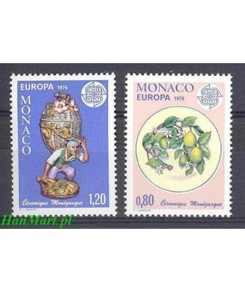 Monako 1976 Mi 1230-1231 Czyste **