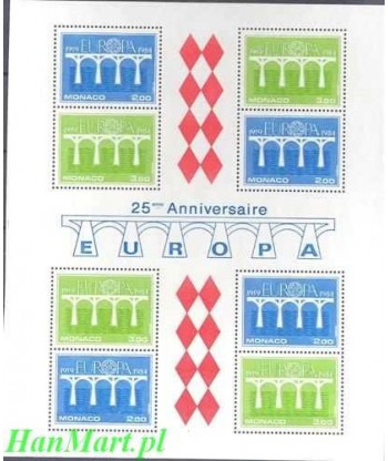 Monako 1984 Mi bl 26 Czyste **