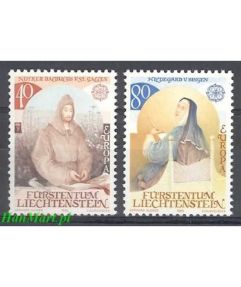 Liechtenstein 1983 Mi 816-817 Czyste **