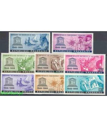 Rwanda 1966 Mi 193-200 Czyste **