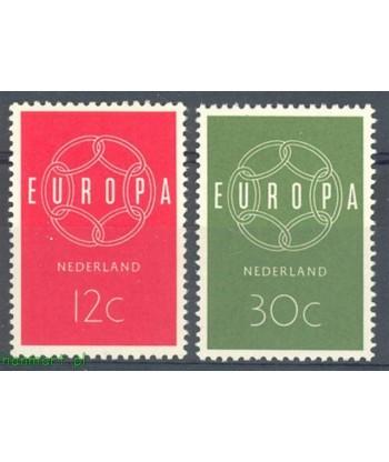 Holandia 1959 Mi 735-736 Czyste **