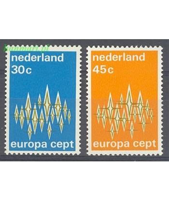 Holandia 1972 Mi 987-988 Czyste **