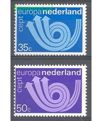 Holandia 1973 Mi 1011-1012 Czyste **