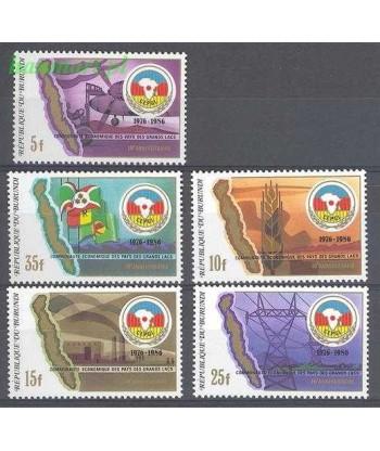 Burundi 1987 Mi 1688-1692 Czyste **