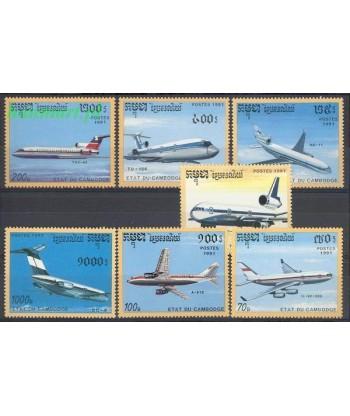 Kambodża 1991 Mi 1230-1236 Czyste **