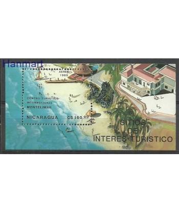 Nikaragua 1989 Mi bl 182 Czyste **