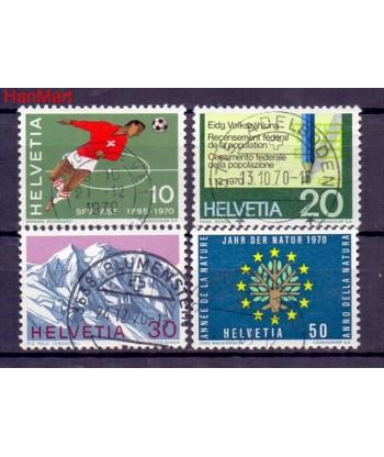 Szwajcaria 1970 Mi  Stemplowane