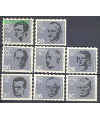 Niemcy 1964 Mi 431-438 Czyste **