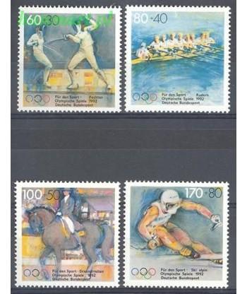 Niemcy 1992 Mi 1592-1595 Czyste **